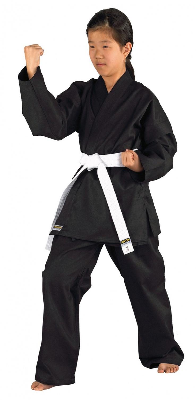 Mod 1 Neuer Karateanzug schwarz Größe wählbar